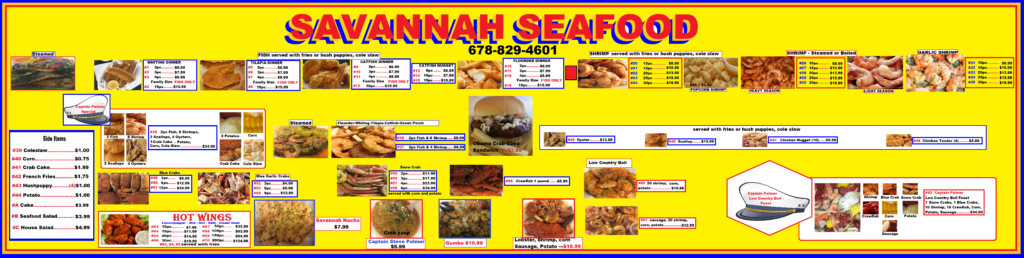 SAV SEAFOOD MENU Yellow Background 2-28-17